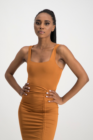 THANDI Square Neck Bodysuit - Glazed Ginger
