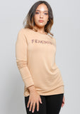 Nude Animal Printed FEMINISTA Long Sleeve Sweater