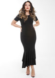 KIARA Black Ruffle Dress