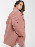 ISLA Teddy Coat - Blush
