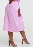 ALEXIS Pink Gingham Check Wrap Skirt