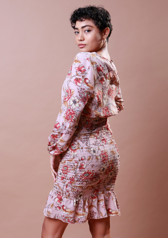 Mimi Blush Floral Dress