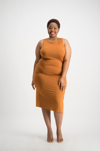 AMANDA Basic Dress - Glazed Ginger