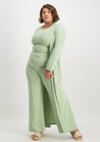 Jane Longline Cardigan - Smoke Green