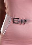 Clear Plastic Waist Belt