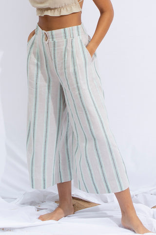 KATE Stripe Linen Culotte