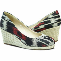 Carmen Wedge Raven/Red for Women