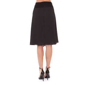 Olian Chiffon Skirt - Back View