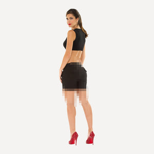 Olian Sleeveless Crop - Rear View