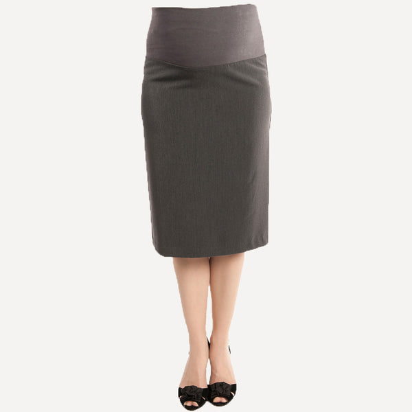 Pencil Skirt - Front View - Grey