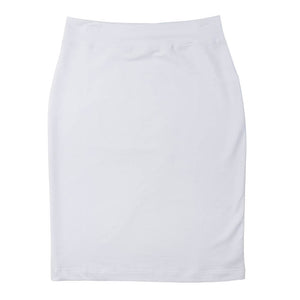T-Shirt Pencil Skirt - White