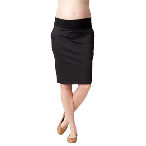 Ripe Twill Skirt - Black - Front View