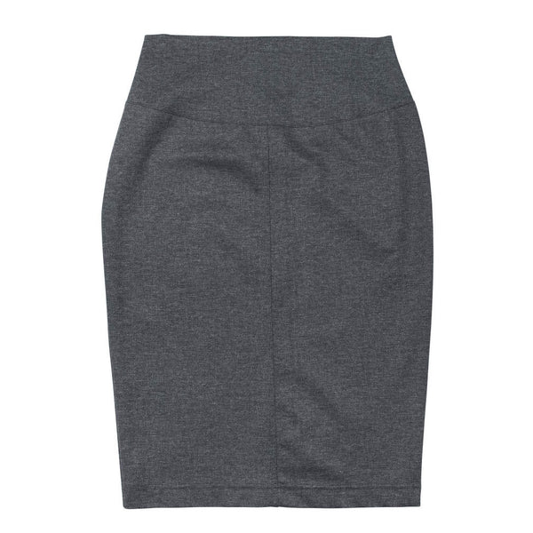Seamed Pencil Skirt - Front View - Grey