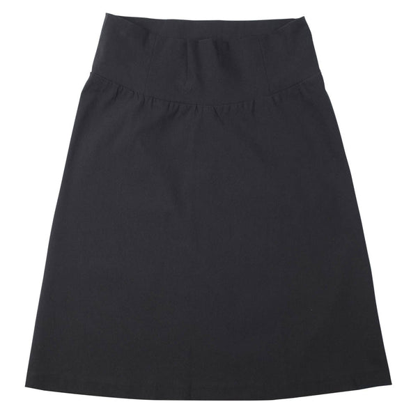 Slight A-Line Skirt - Black