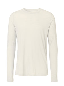 Long sleeve Merino T-shirt sand color