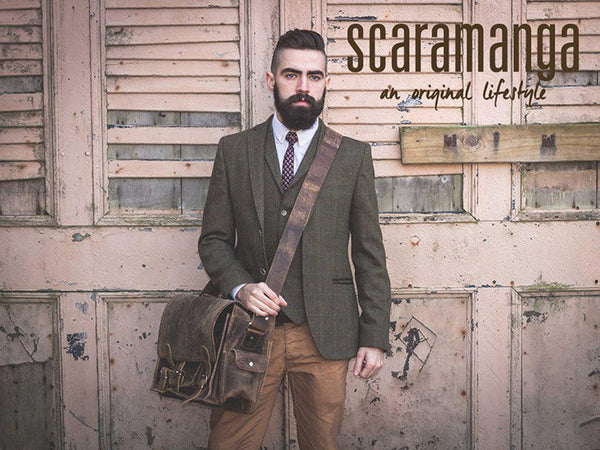 Scaramanga Vintage Leather Overlander Medium Satchel Style