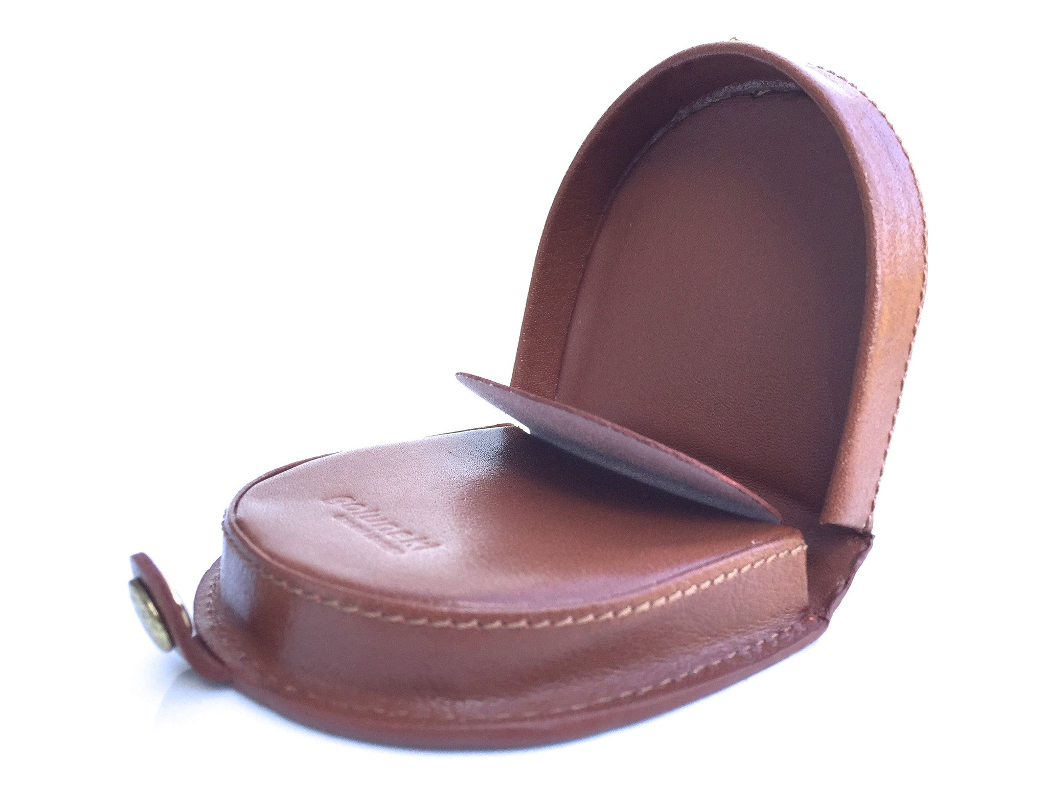 5b9c7cb61 ... Style 143: Mens Leather Horseshoe Coin Tray Purse In Tan By Golunski -  - 7 ...