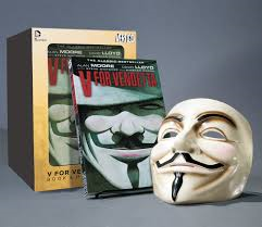 V FOR VENDETTA - Book & Mask set