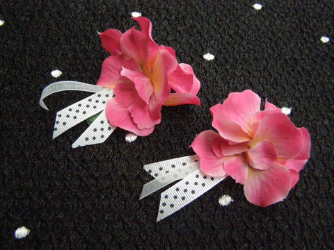 Funky Fun Floral Barrettes