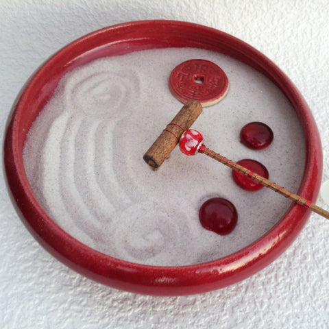 Mini Zen Garden - Chinese Red II