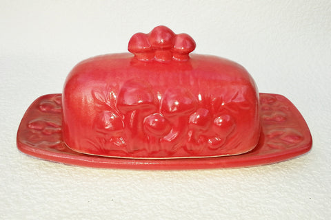 Mushroom Butter Dish - Red Red