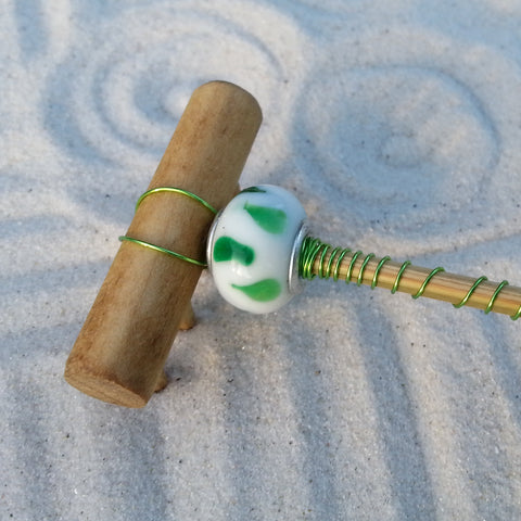 Mini Zen Garden Rake - Emeralds in the clouds
