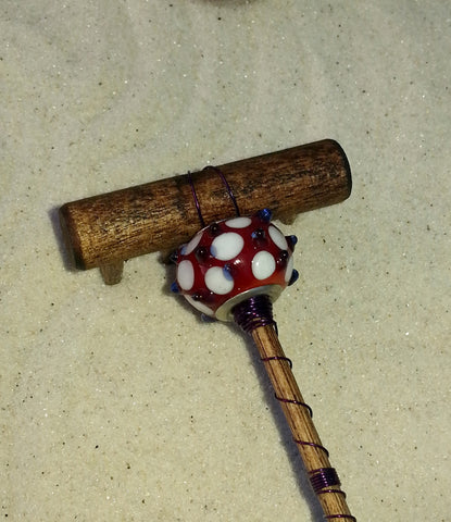 Mini Zen Garden Rake - Bugged Out - Murano Bead