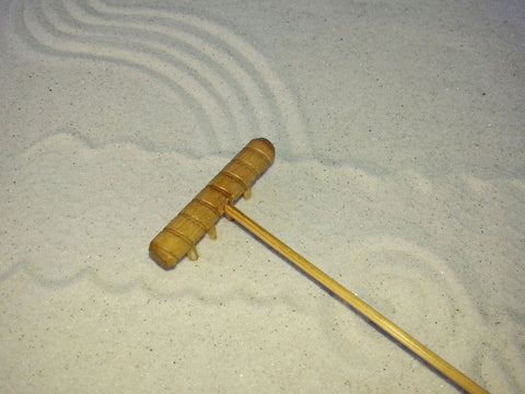 Mini Zen Garden Rake - Beach Comber-Blonde