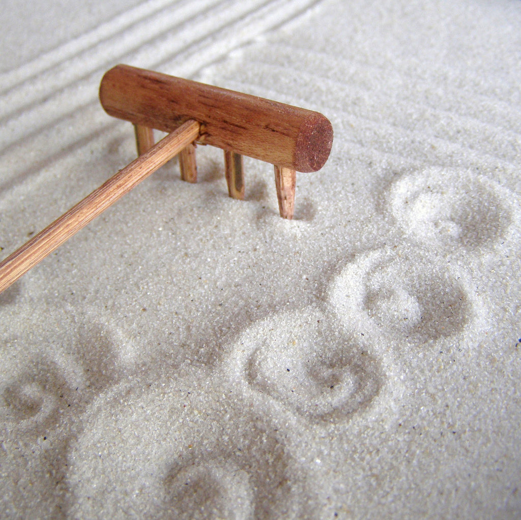 Mini tabletop Zen Garden Rake - Handmade in Oregon U.S.A.- Plain Jane