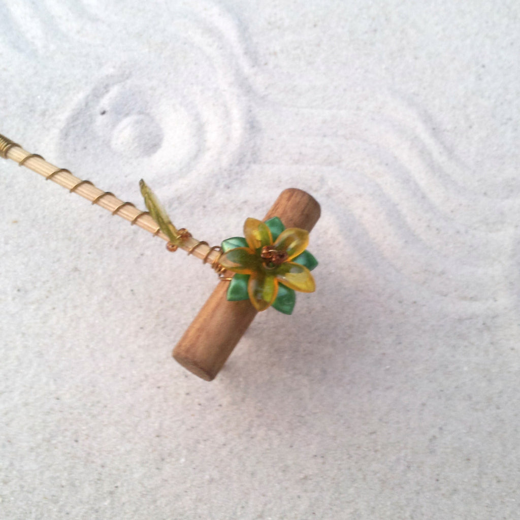 Mini Tabletop Zen Garden Rake -  From the forest floor