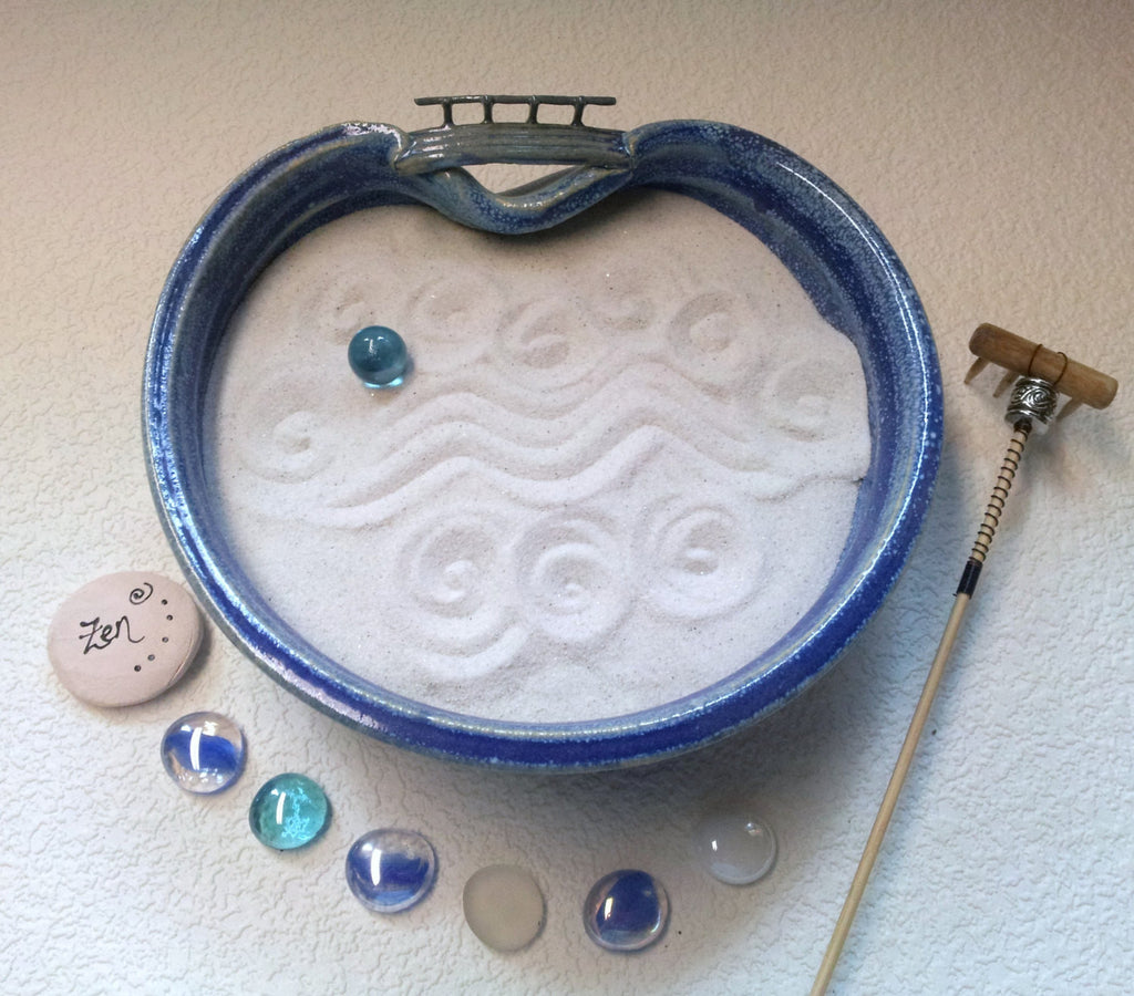 Standard Zen Garden - OOAK - Bridge over troubled waters