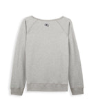 Antigone Iris grey marl multi sweatshirt back view