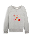 Antigone Iris grey marl multi sweatshirt