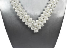 White Pearl and Crystal Bridal Necklace - Susanne Ferrante - 2