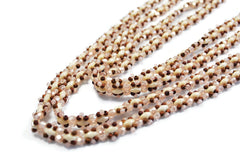 Bronze and Pink Beaded Chain -  - 2