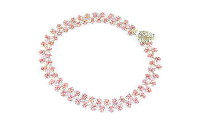 Pink and Silver Necklace -  - 1