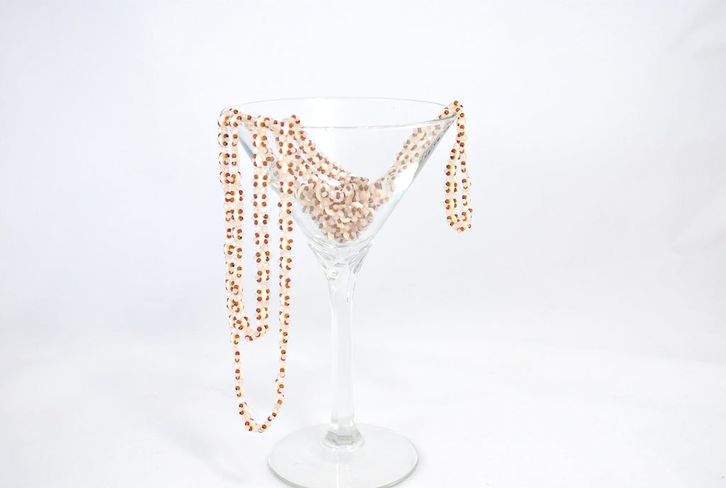 Bronze and Pink Beaded Chain -  - 3