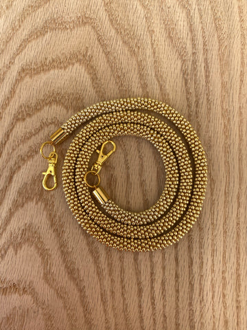 Gold Bead Crochet Mask Lanyard