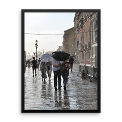 Walking in the Rain Framed Poster Photo - Susanne Ferrante - 12