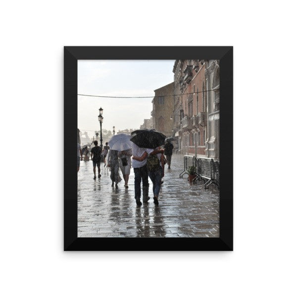 Walking in the Rain Framed Poster Photo - Susanne Ferrante - 1