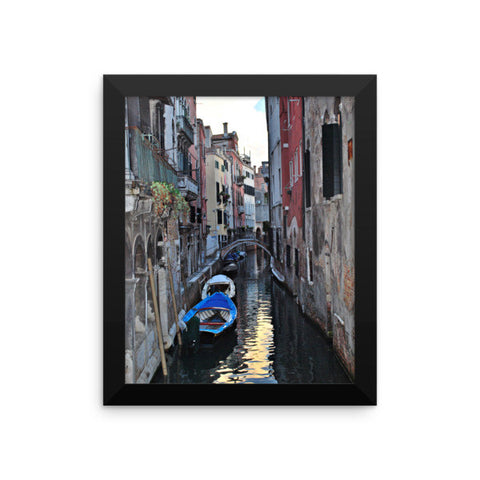 Venice Canal Framed Poster Photo