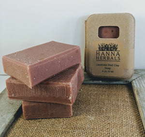 French Lavender and Red Clay Soap - Hanna Herbals