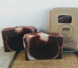 Patchouli, Black Pepper and Lavender Essential Oil Soap - Hanna Herbals