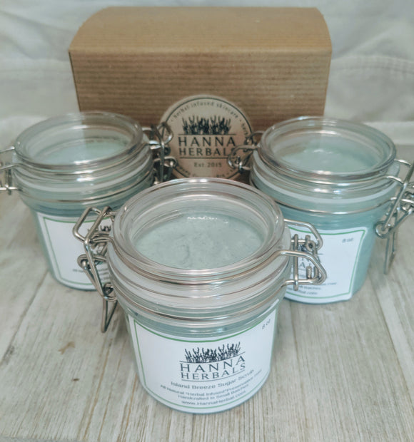 Island Breeze Whipped Sugar Scrub - Hanna Herbals