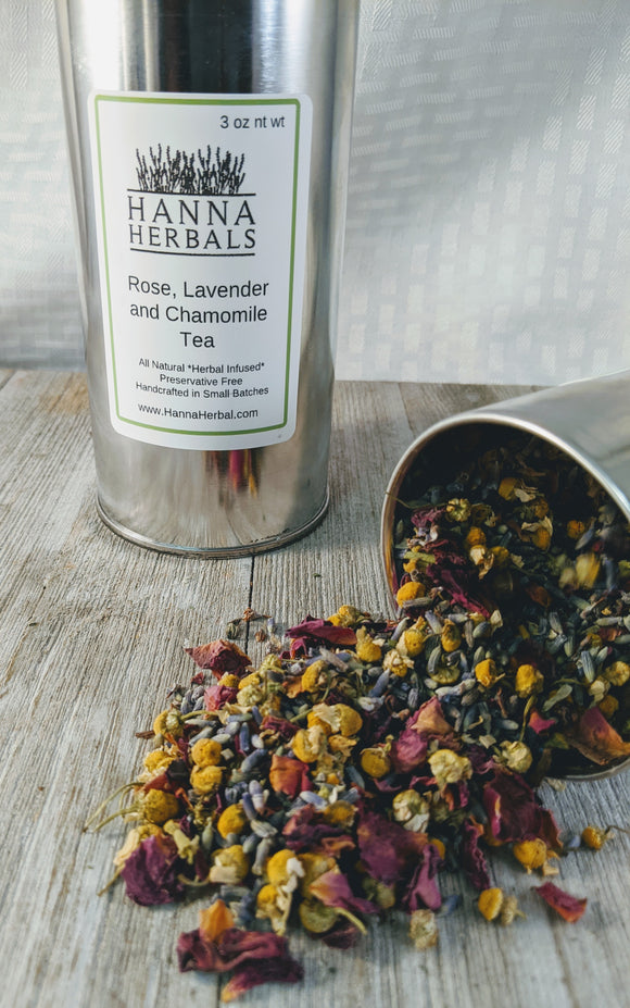Rose Lavender and Chamomile Tea - Hanna Herbals