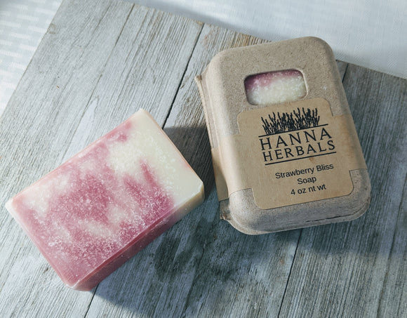 Strawberry Bliss Soap - Hanna Herbals