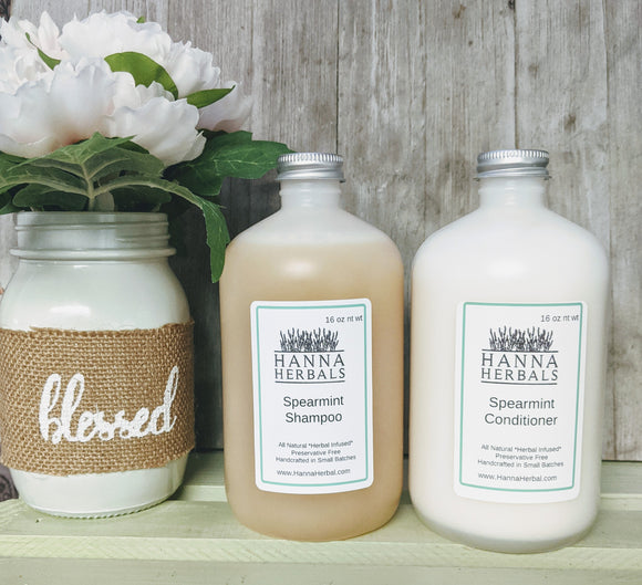 Spearmint Shampoo and Conditioner - Hanna Herbals