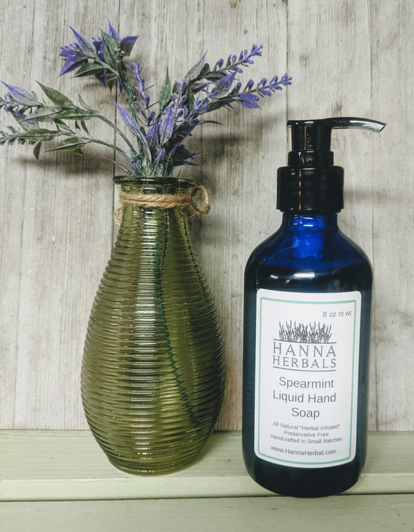Spearmint Liquid Hand Soap - Hanna Herbals