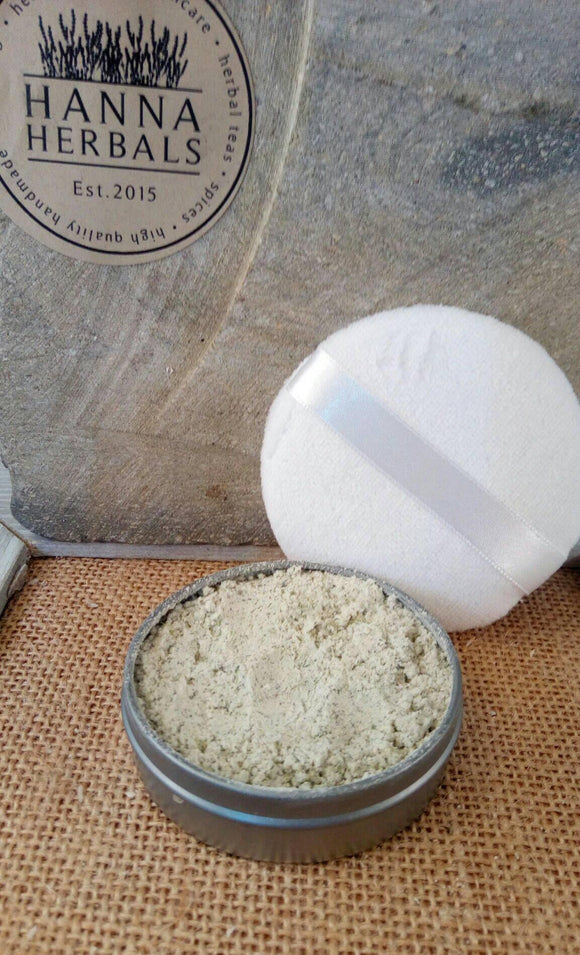 Dusting Powder with puff Frankincense and Lavende - Hanna Herbals