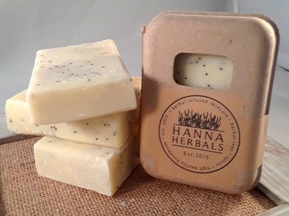 Lemon Poppyseed Soap - Hanna Herbals